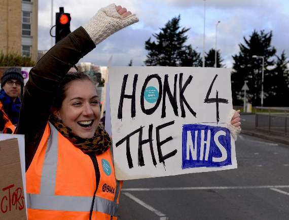 Junior doctors at hospitals across east London and Essex take part in strike action