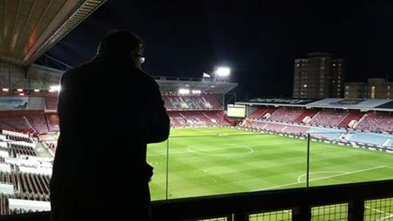 Yellow Sports Brian Jeeves at Upton Park for West Ham United's FA Cup fourth round replay with Liverpool