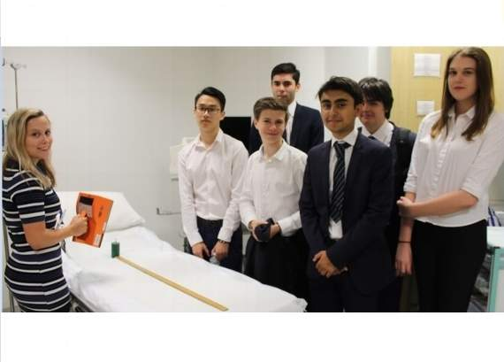 Physics teacher given ultrasound scan on students' tour of Romford hospital's radiology department